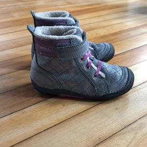 Stride Rite Leather Booties